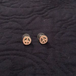Juicy Couture Pink Peace Sign Earings